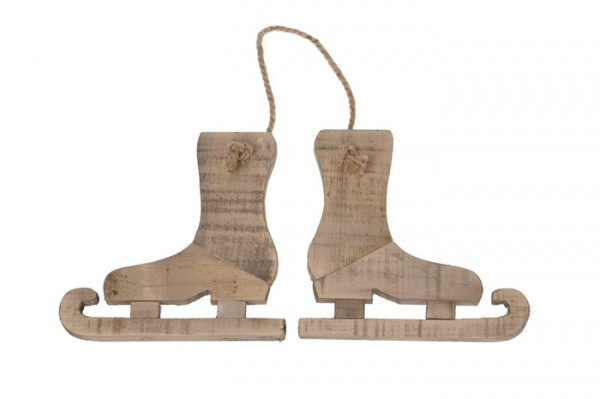 Hänger Schlittschuh Holz 30x30 cm