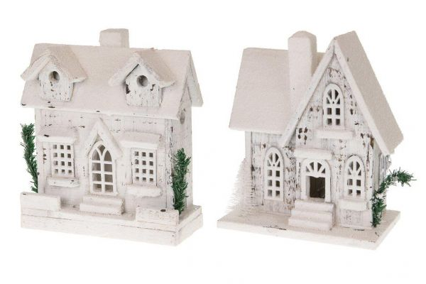 House with lights wood 23-24x10-14.5x27-28cm bo 1pc mix box A/2