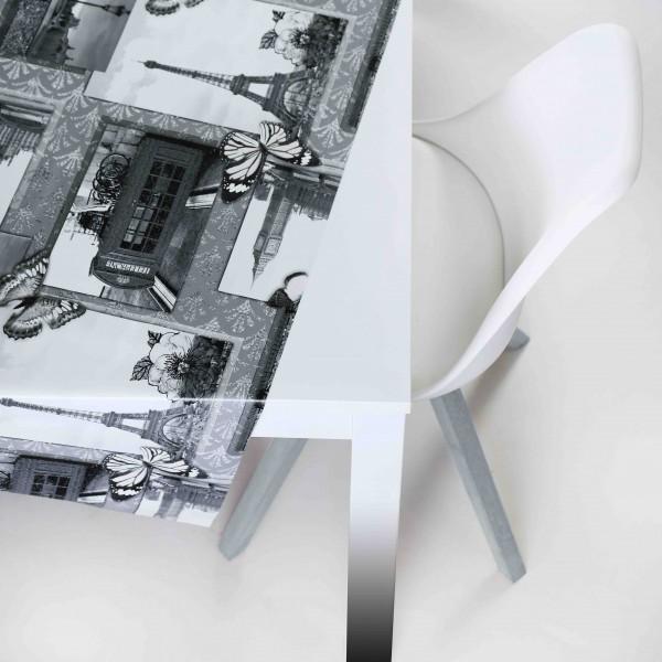 Tischbelag Vida Style Cities Meterware 140 cm