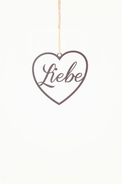 Hanger metal Liebe 19x18cm