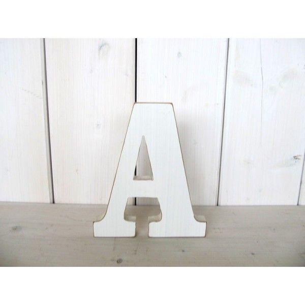Buchstaben ABC Alphabet A-Z einzeln ca. 14x18 cm Holz weiß