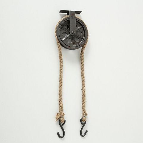 Garderobenhaken Juri, H 60,00 cm, Eisen, Mehrfarbig, Graphit, Natur