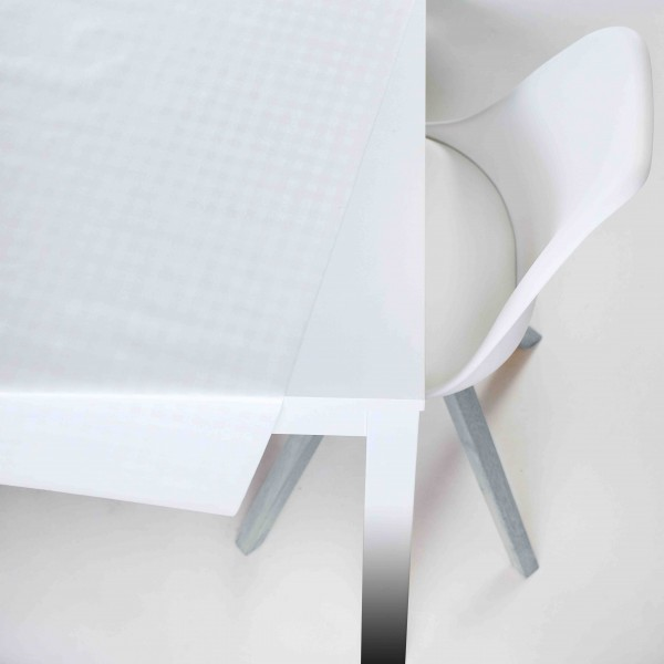 Tischbelag Vida Style Quadro white Meterware 140 cm