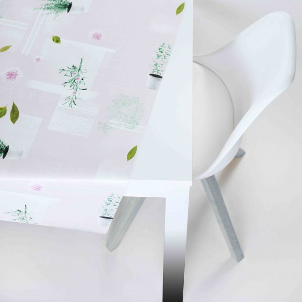 Tischbelag Vida Style Aromatic ecru Meterware 140 cm