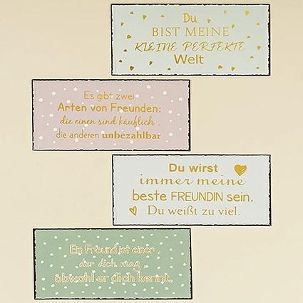 Schild Freunde 1 4sort 40x20cm Eisen lackiert