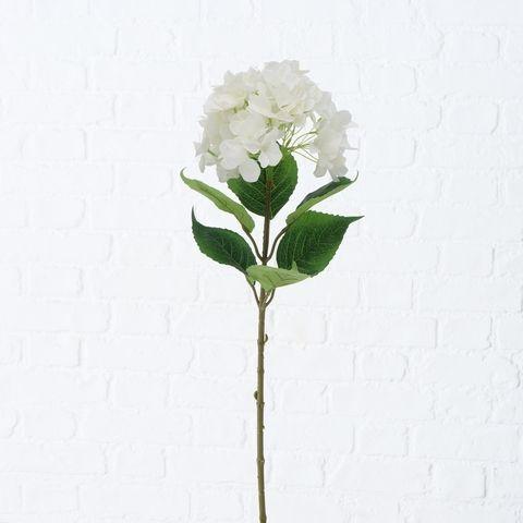 Stielblume , Hortensie, Indoor, H 84 cm, Weiß Kunststoff weiss