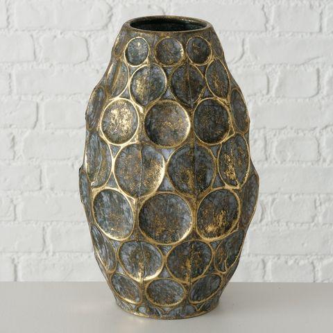 Vase Lipsi, Deko, H 35,00 cm, Eisen, Mehrfarbig, Ornament