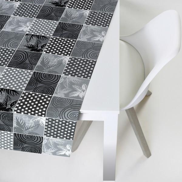 Tischbelag Vida Style Plus Patch grey Meterware 140 cm