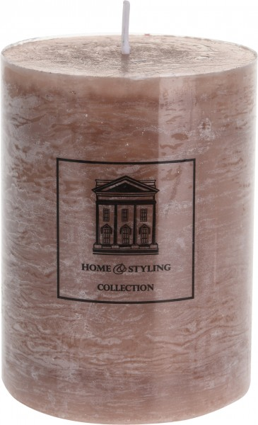 Stumpenkerze, braun, H:12cm