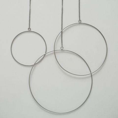 Dekoanhänger Rumba, Rund, D 35 cm, Eisen, Silber Menge im Set: 1; Eisen silber