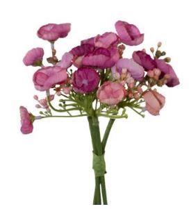 Wildhortensienbündchen 20cm pink