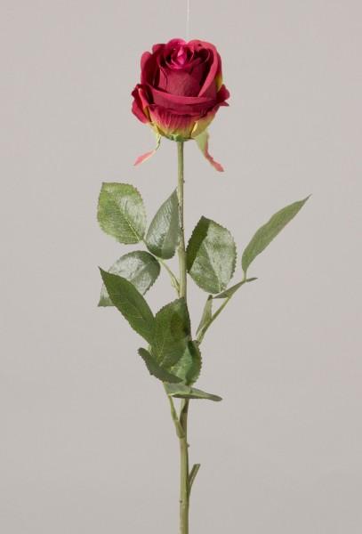 Single Rose Bud w/3 set of lvs
