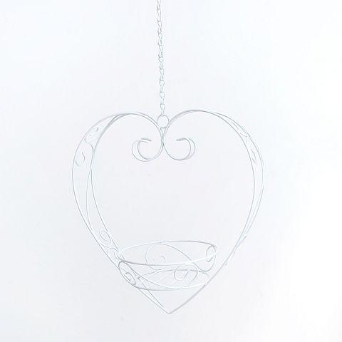 Pflanztopfhalter Mary, H 37 cm, Eisen, Weiß Eisen weiss