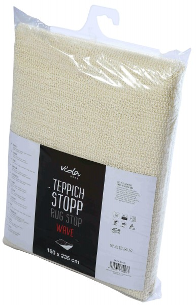 Teppichstop Teppichunterlage Antirutsch Wave - PVC Gitter für glatte und harte Böden