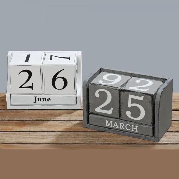 Blockkalender , 2 sort., H 9,00 cm