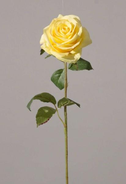 Rose Stem w/2 set lvs in Plastic Stem 54cm