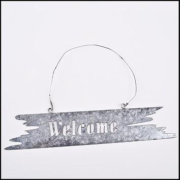 Schild -Welcome- hängend Metall