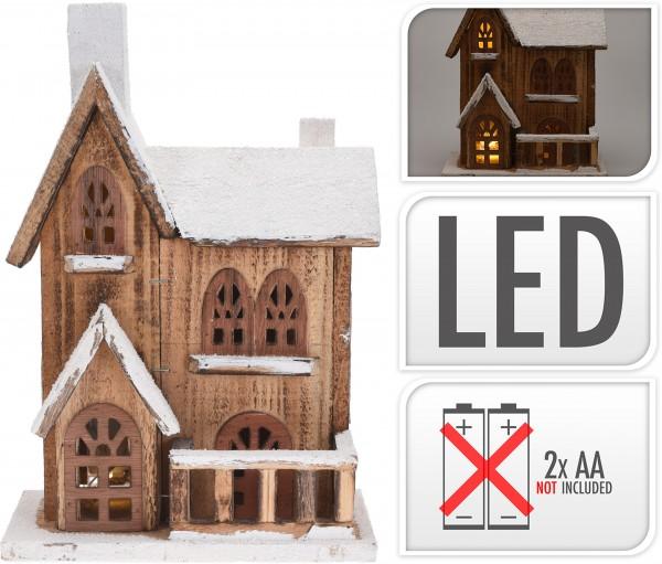 Deko Haus mit LED 30 cm