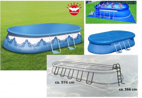 Abdeckplane Pool Oval f. 976 x 366 cm