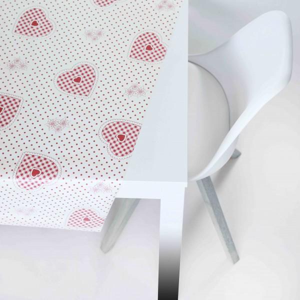 Tischbelag Vida Style Hearts brown Meterware 140 cm
