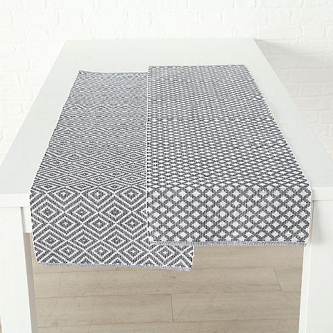 Tischläufer Tamara, 2 sort., L 140 cm, Farbmix, Baumwolle Baumwolle Farbmix
