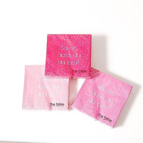 Servietten You, 20 tlg., 3 sort., Pink, Papier Papier pink