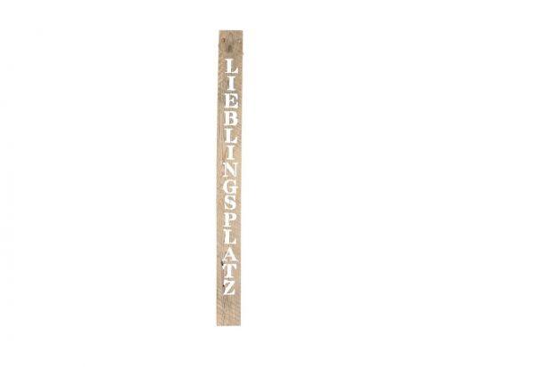 "Sign historic wood ""LIEBLINGSPLATZ 118x10x2cm"