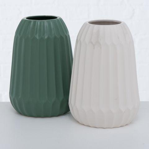 Vase Cucita , 2 sort., H 21,00 cm, Steingut, Matt, Einfarbig
