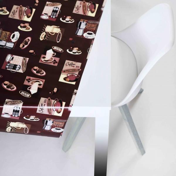 Tischbelag Vida Style Café choco Meterware 140 cm