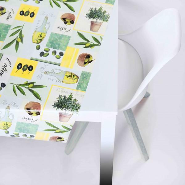 Tischbelag Vida Style Provence green/beige Meterware 140 cm