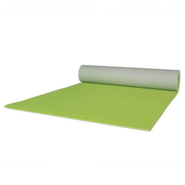 Gymnastikmatte apfelgrün grau zweifarbig 65 x 180 cm rechteckig