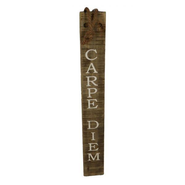Sign Carpe diem historic wood 78x10x1.5cm
