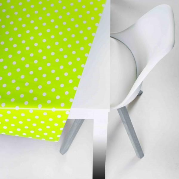 Tischbelag Vida Style Polka green Meterware 140 cm