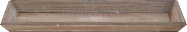 Tablett 40x14cm braun