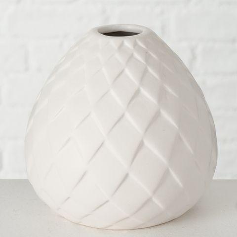 Vase Fabyo, H 12,00 cm, Steingut, Matt, Einfarbig