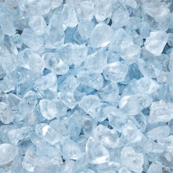 DEKO GLAS-STEINE 700 G 4-10 mm hellblau