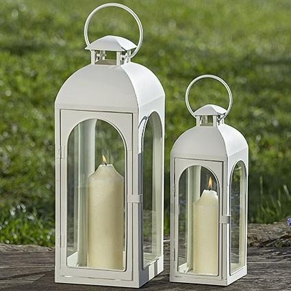 Laterne Spencer S/2 H37-51cm Metall/Glas