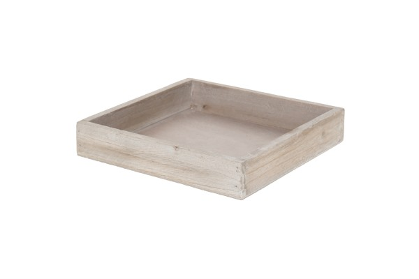 Holz Tablett 20x20x4cm