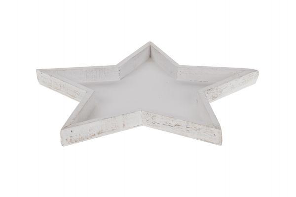 Wooden tray star 40x3cm