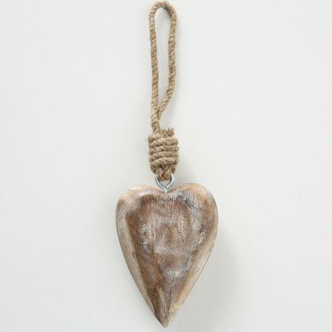 Dekoanhänger Herz, Herz, Hängevorrichtung, L 10,00 cm, H 4,00 cm
