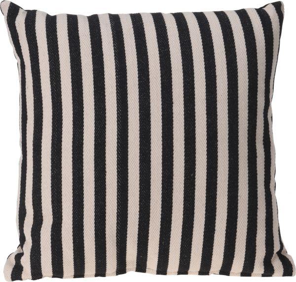 Kissen 45x45 cm gestreift schwarz/weiß