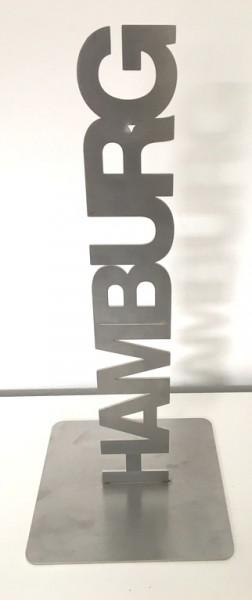 Tischaufsteller Hamburg Edelstahl 34 x 5,5 cm