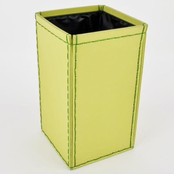 Topf eckig Leder-Look Kunststoff