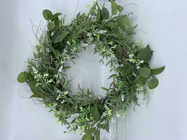 Lavendel-Mix-Kranz 40 cm, weiß