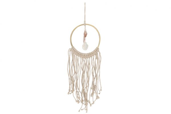Ring with fringes and shells 18cm