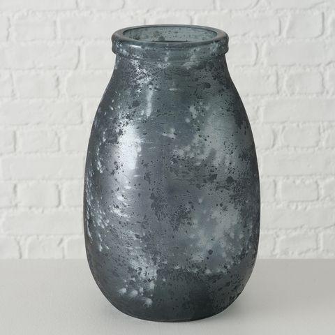 Vase Verma, H 28,00 cm, Recyceltes Glas lackiert, Irisierend, Einfarbig
