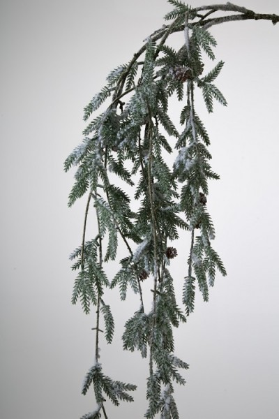 Pinienzweig Schnee hängend einzeln 122 cm