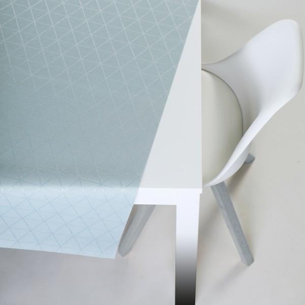 Tischbelag VidaTex Royal Triangel blau Meterware 140 cm