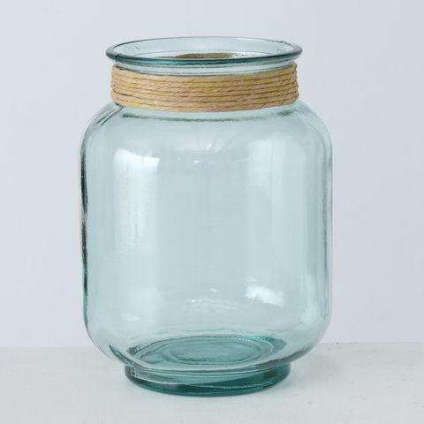 Windlicht Nellia, H 25,5 cm, Klarglas, Transparent Glas klar klar