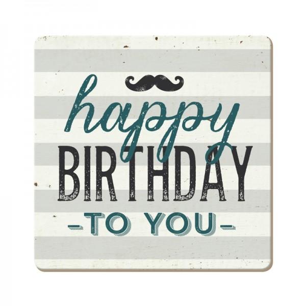 Korkuntersetzer Happy Birthday to you